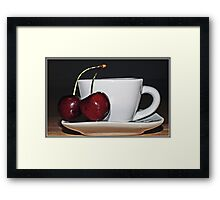 Cherry Tea Framed Print