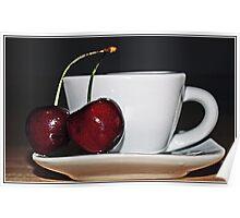 Cherry Tea Poster