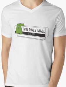 BACK TO THE FUTURE, TWIN PINES MALL Mens V-Neck T-Shirt