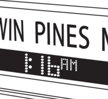 BACK TO THE FUTURE, TWIN PINES MALL Sticker
