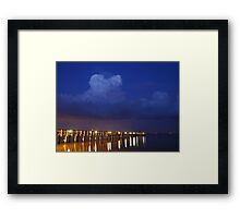 Evening At The Pier Framed Print