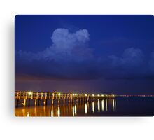 Evening At The Pier Canvas Print