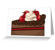 Chocolate cake slice Greeting Card