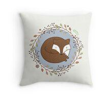 Dreaming Fox Throw Pillow