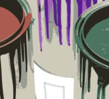 3 Paint Gallons Sticker