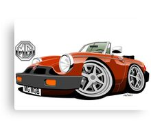 MG MGB 'rubber bumper' caricature blaze Canvas Print