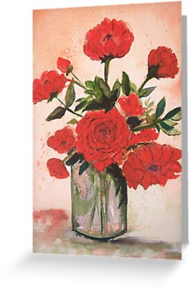 Rose Flowers in Vase by © Linda Callaghan
