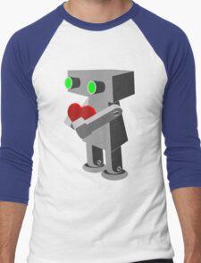 Robots need love too... Men's Baseball ¾ T-Shirt