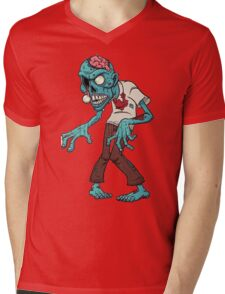 Zombie green Mens V-Neck T-Shirt