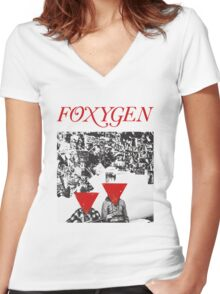 Foxygen  Women's Fitted V-Neck T-Shirt
