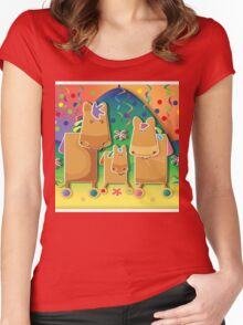 Pinata Party Ponies TShirt Women's Fitted Scoop T-Shirt