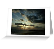 Light Over Akko Beach Greeting Card