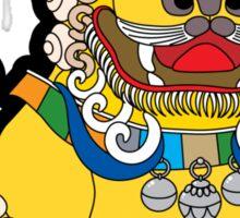 Golden Temple Lion - Male Sticker