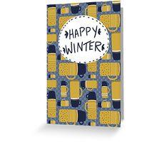 Retro Thermos Pattern Greeting Card