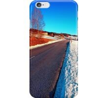 Country road on a winter afternoon | landscape photography iPhone Case/Skin