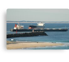 Newcastle Harbour - Coal Shipping Movements Canvas Print