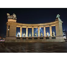 Heroes' Square at Night Photographic Print