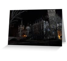 Vajdahunyad Castle at Night Greeting Card