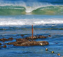 The Mystical Colours of the Surf - Bar Beach NSW by Bev Woodman