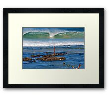 The Mystical Colours of the Surf - Bar Beach NSW Framed Print
