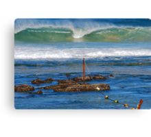 The Mystical Colours of the Surf - Bar Beach NSW Canvas Print