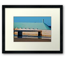 Can't Wait for Summer - Newcastle Ocean Baths Framed Print