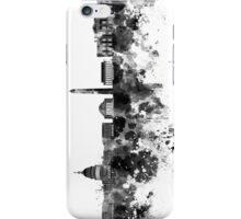 Washington DC skyline in black watercolor on white background  iPhone Case/Skin
