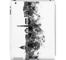 Washington DC skyline in black watercolor on white background  iPad Case/Skin