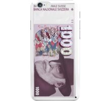 1000 Old Swiss Francs Note- Front iPhone Case/Skin