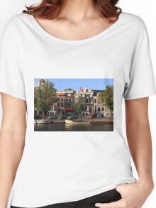 Amsterdam Canal Women's Relaxed Fit T-Shirt