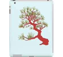 Red Pine Bonsai (Blue Background) iPad Case/Skin