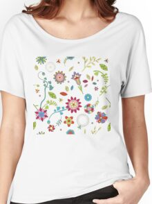 Flowers hippies Women's Relaxed Fit T-Shirt