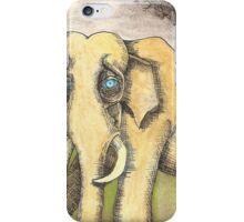 Blue Eyed Elephant iPhone Case/Skin