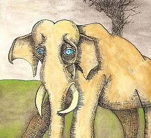 Blue Eyed Elephant by pathumph