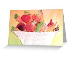 vegetbles Greeting Card