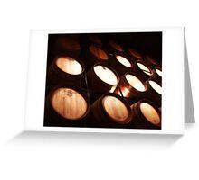 Wine Centre Barrels Greeting Card