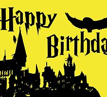 Happy Birthday - Hufflepuff by husavendaczek
