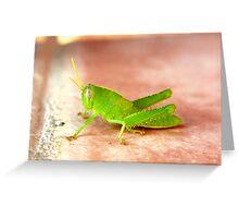 MR GREEN HOPPER Greeting Card