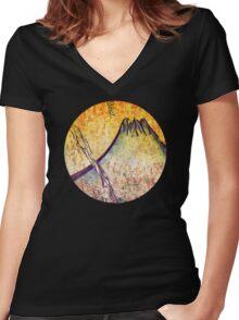 good morning  Mountain Women's Fitted V-Neck T-Shirt