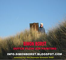 simon working plein air by simon borst
