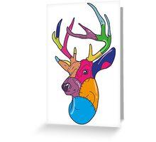 Patchwork Reindeer Greeting Card
