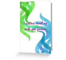 Mash Up Forever Greeting Card