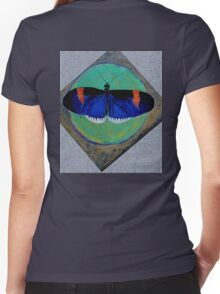 Spiral Butterfly V Women's Fitted V-Neck T-Shirt