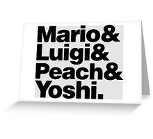 Super Mario & Friends Greeting Card
