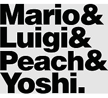 Super Mario & Friends Photographic Print