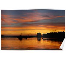 Sunset over Barmouth Poster