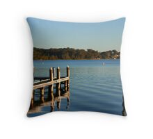 Blue Ripple Throw Pillow