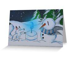 Snowcake Greeting Card