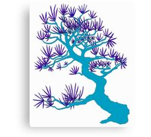 Light Blue Pine Bonsai Canvas Print