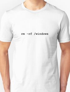 rm -rf /windows T-Shirt